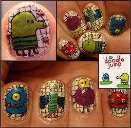 doodle jump nail art