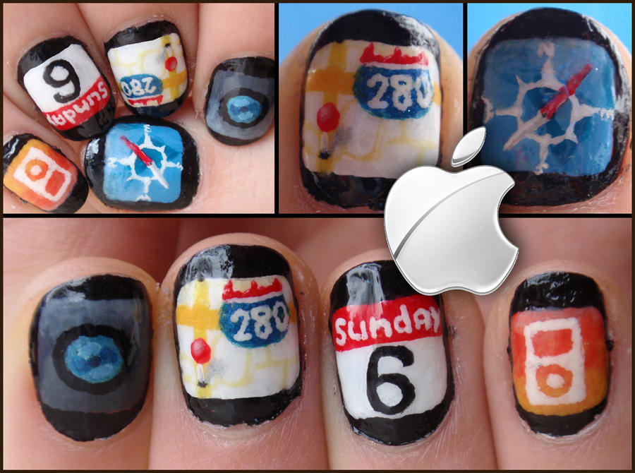 Apple Apps Nails By Ninails On Deviantart