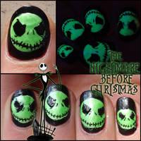 jack skellington nails 3 by Ninails