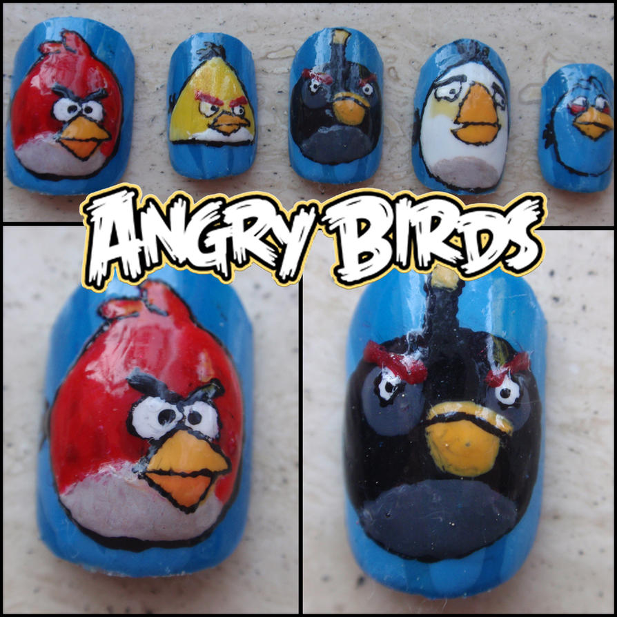 angry birds fake nails by Ninails on DeviantArt