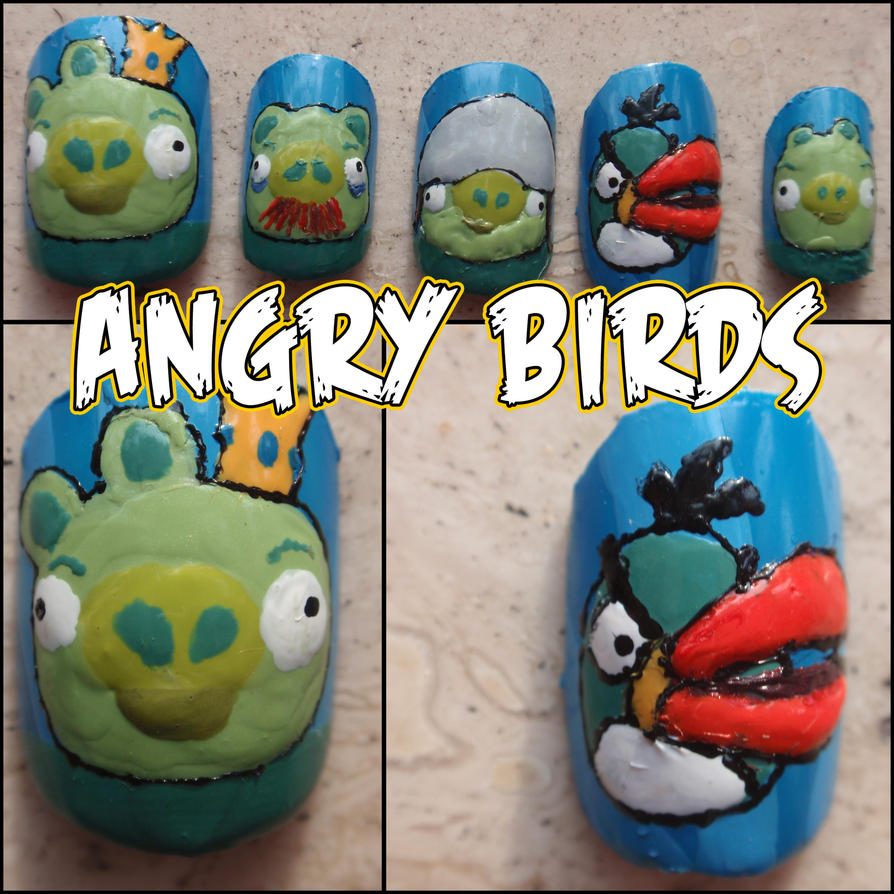angry birds fake nails 2 by Ninails on DeviantArt