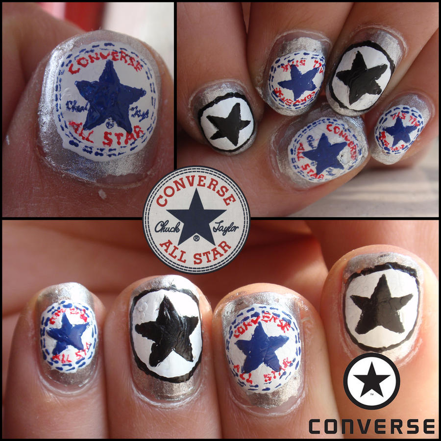 Nail Art Couture Converse Nail Art: Converse Nails By Ninails On DeviantArt