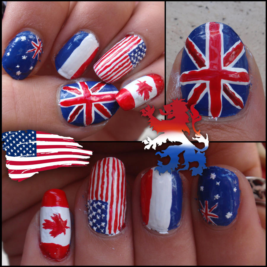 Flag Nails By Ninails On DeviantArt