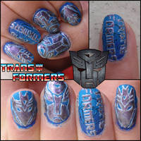 transformers nails by Ninails
