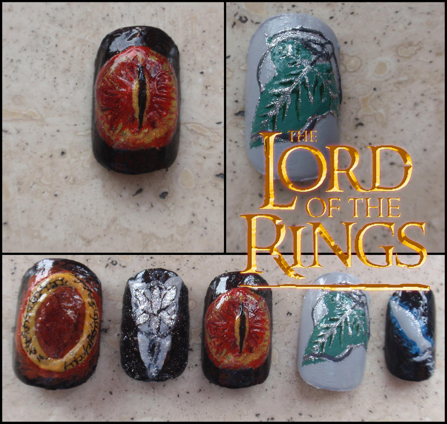 the Lord of the Rings nails by Ninails on DeviantArt