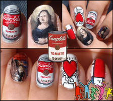 paintings nails by Ninails
