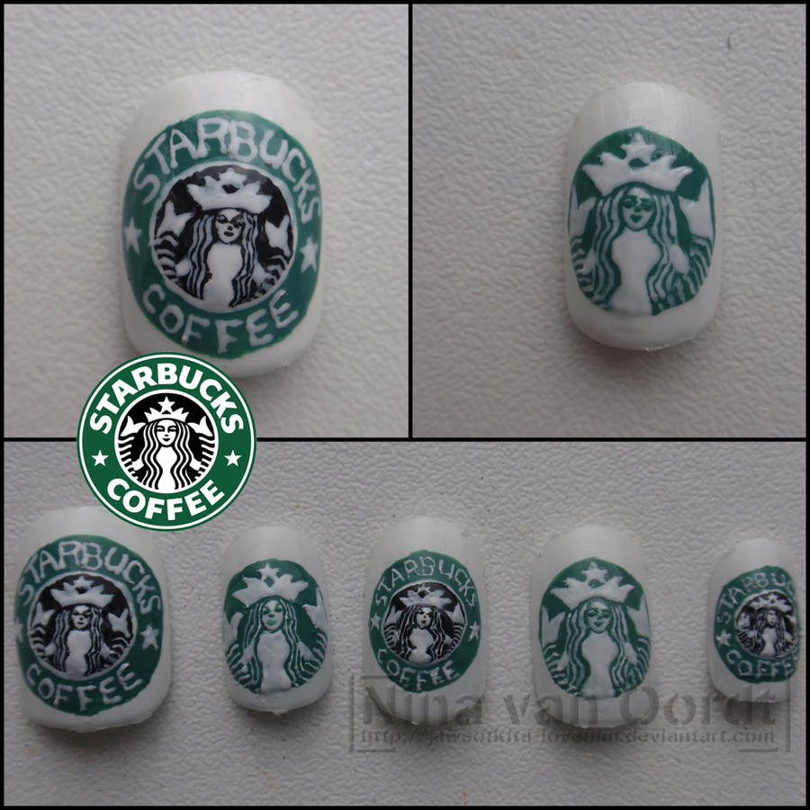 Starbucks Coffee Nails By Ninails On Deviantart