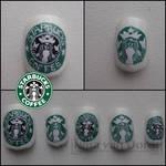 Starbucks Coffee nails