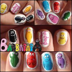 Barbapapa nails by Ninails