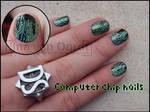 Computer chip nails