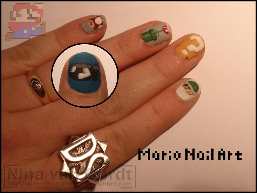 Mario nails by Ninails on DeviantArt