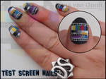 Test screen nails