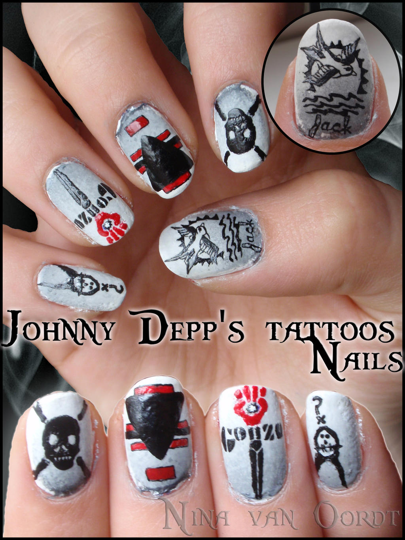 Johnny Depp S Tattoos Nails By Ninails On Deviantart