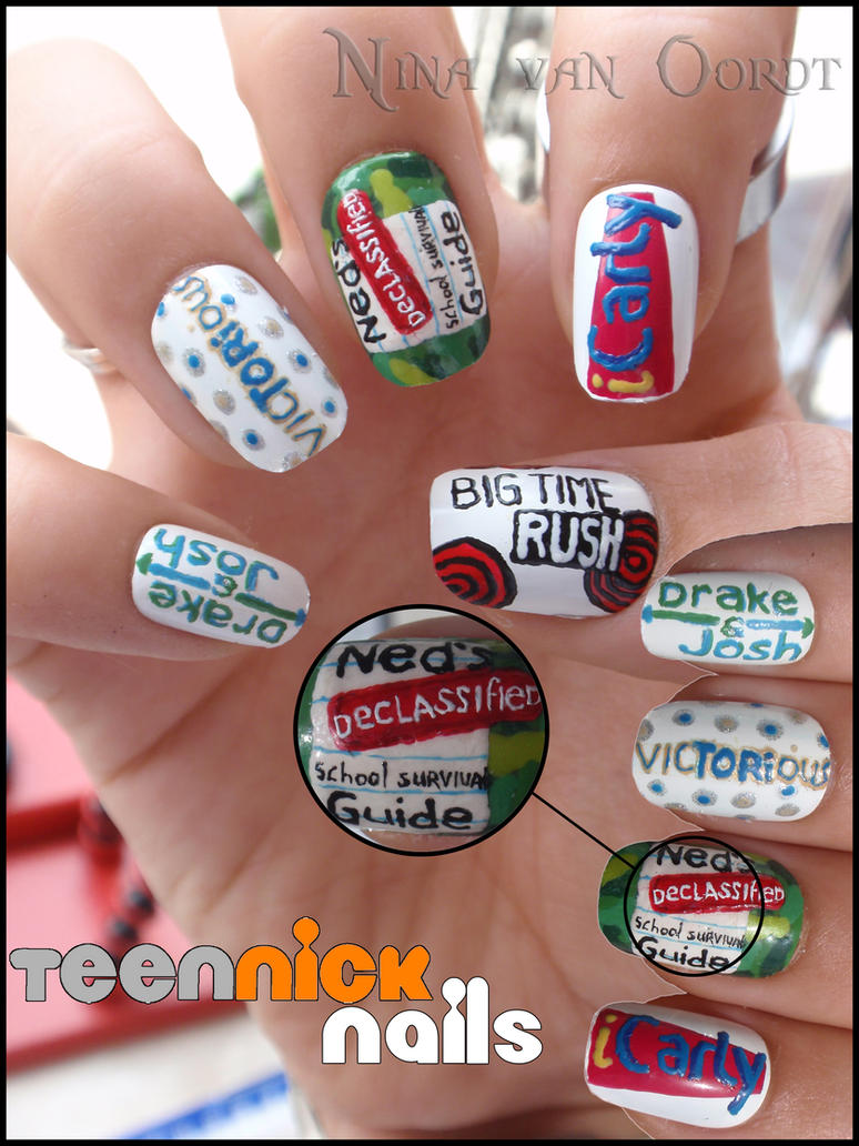Teen Nick nails by Ninails on DeviantArt