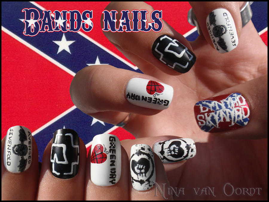 bands nails 4 by Ninails on DeviantArt