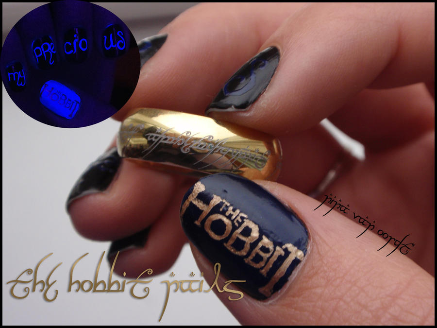 The Hobbit nails by Ninails on DeviantArt