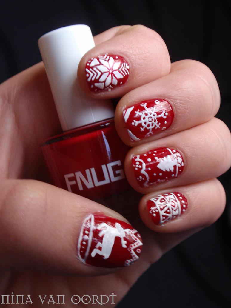 Christmas nails by Ninails