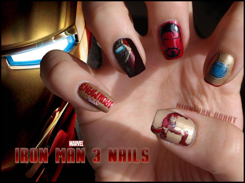 Iron Man Nails by Ninails on DeviantArt