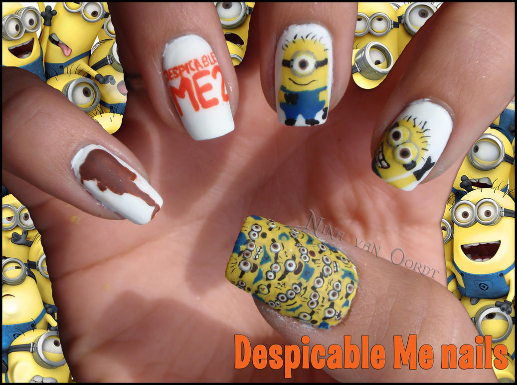 Despicable Me Nails by Ninails on DeviantArt