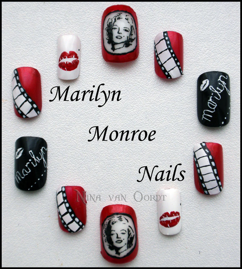 Marilyn Monroe Nails by Ninails on DeviantArt