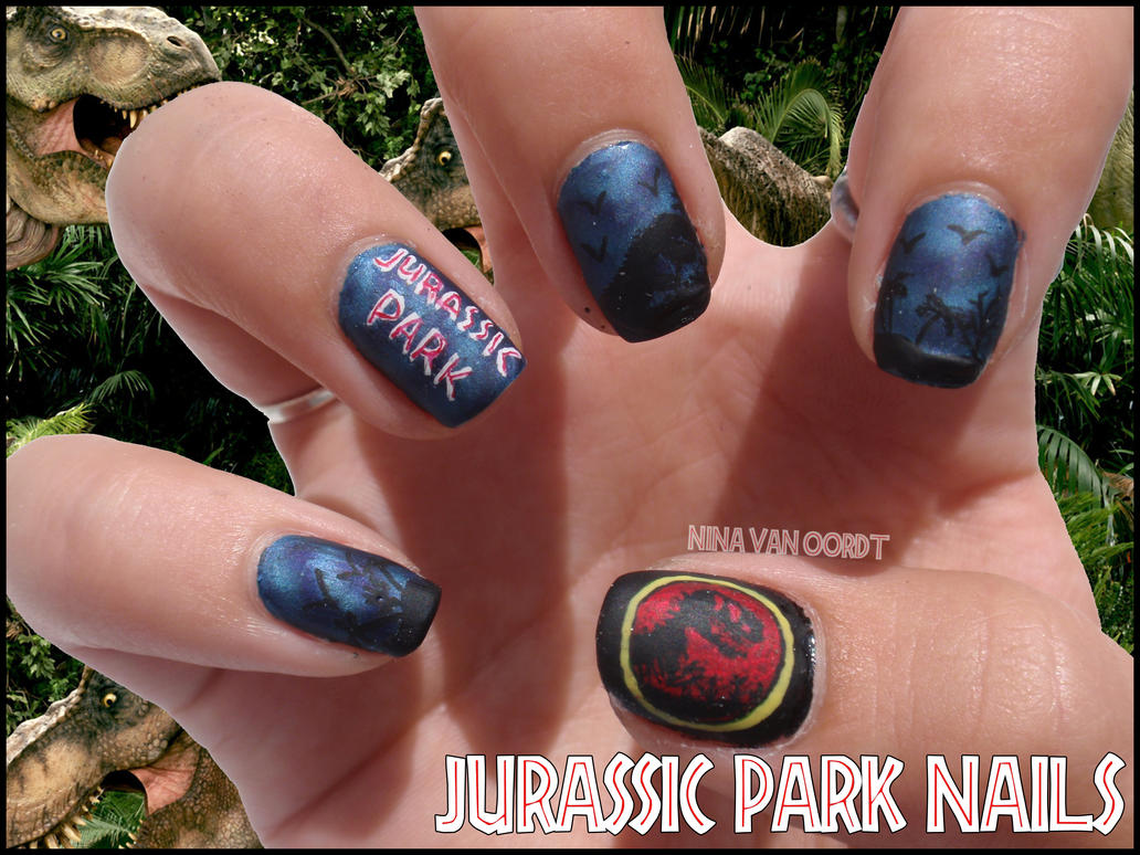 Jurassic Park Nails by Ninails on DeviantArt