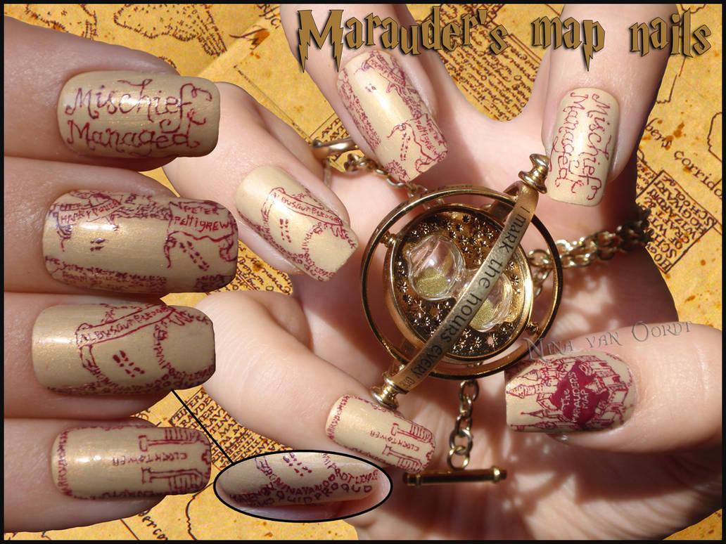 Marauder's Map Nails