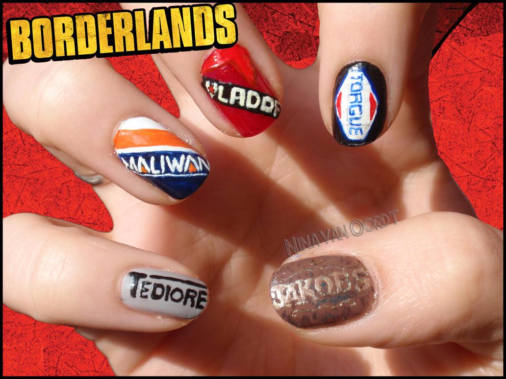 Borderlands Nails by Ninails on DeviantArt