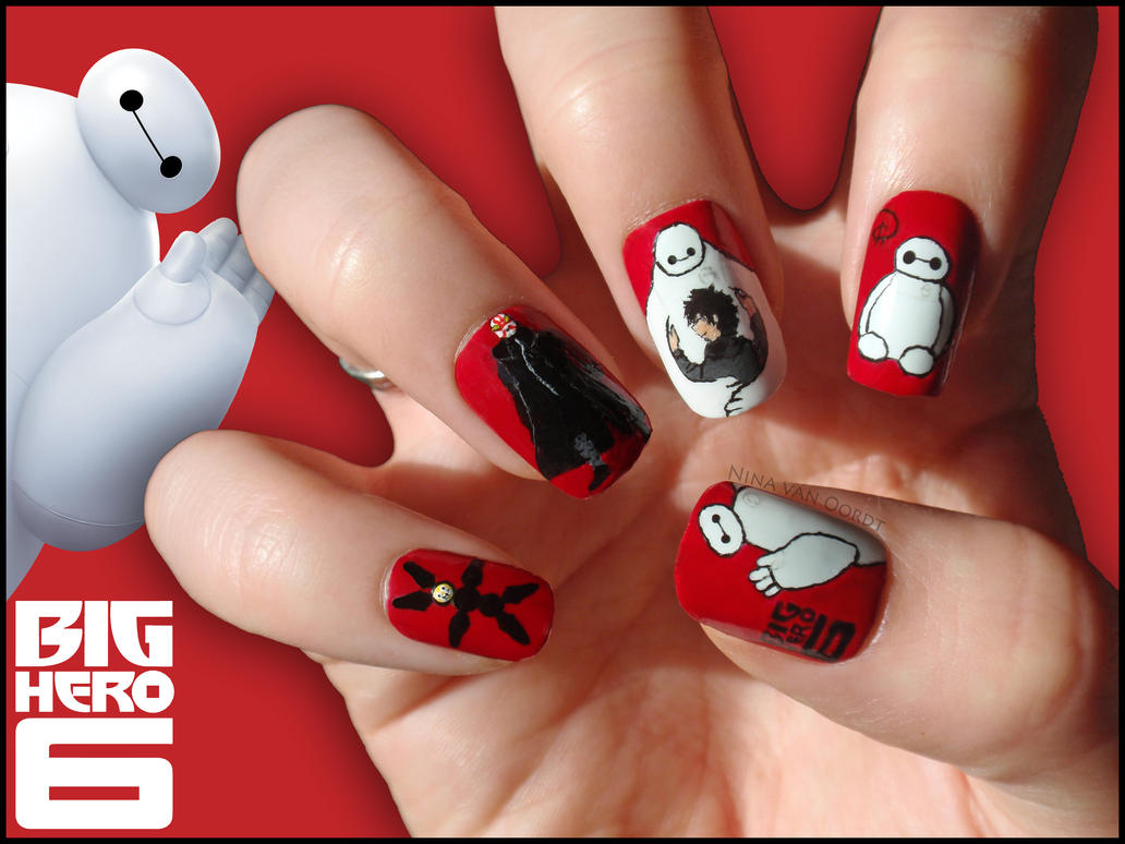 Big Hero Six Nails by Ninails on DeviantArt