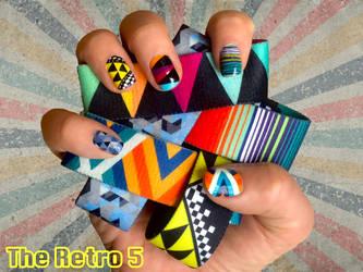Retro ZOX designs - Nail art