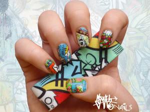 SLOTH inspired Nail art pt. I