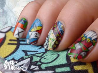 SLOTH inspired Nail art pt. III