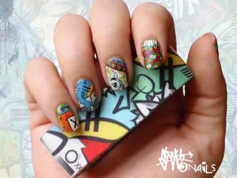 SLOTH inspired Nail art pt. IV