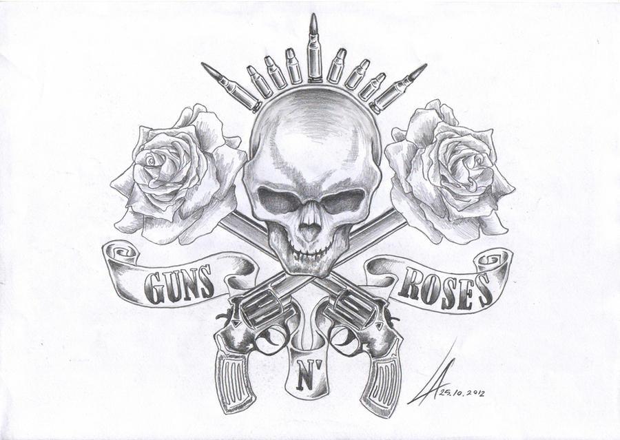 Skulls And Guns Tattoos: Guns N' Roses Remake By Zander1994 On DeviantArt