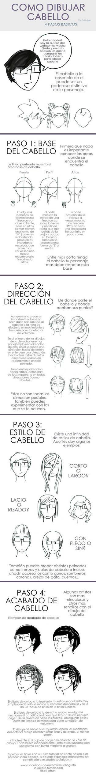 Tutorial para dibujar cabello