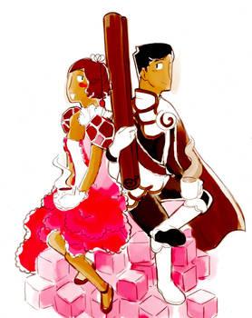 Princess Sugar and Prince Cinnamon a color