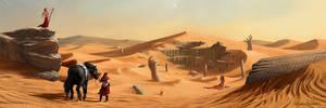 Desert Colossus by AnthonyPismarov