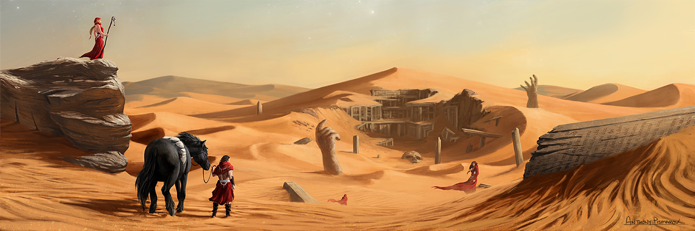 Desert Colossus by AnthonyPismarov