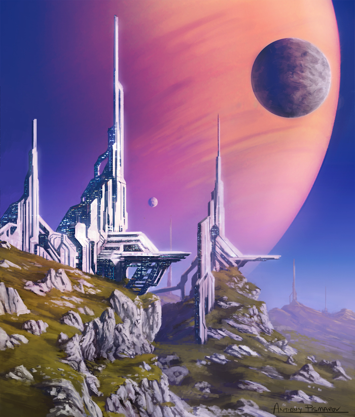 Structures on a Distant Moon by AnthonyPismarov