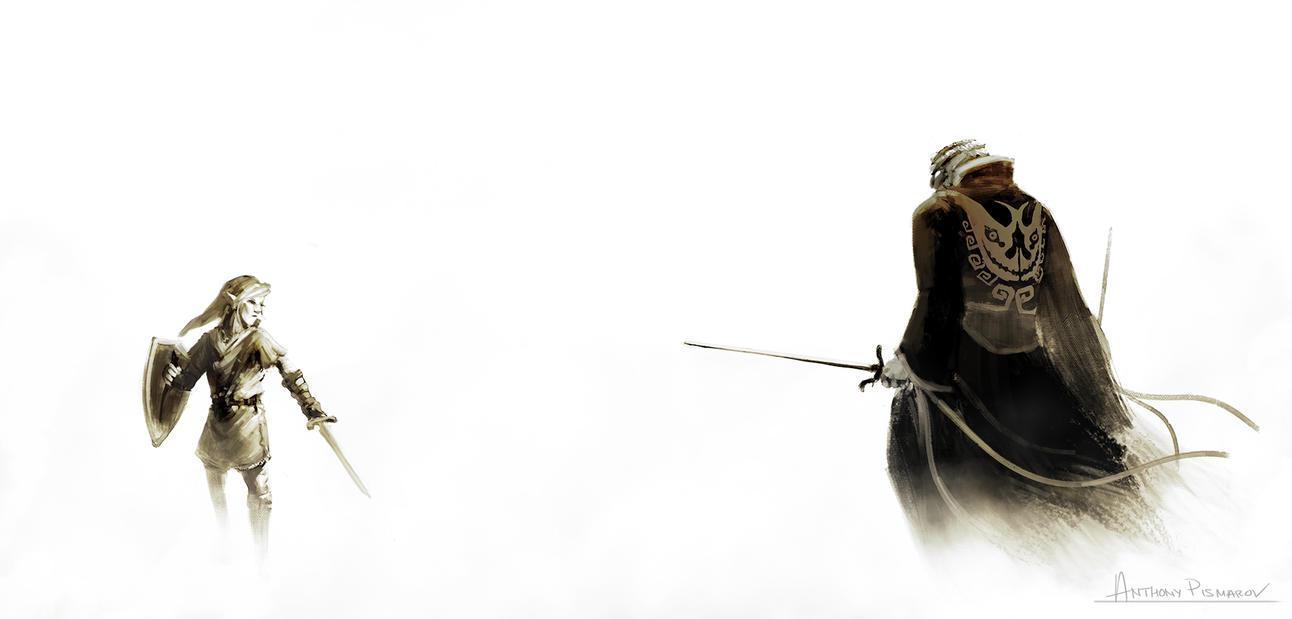 Link vs Ganondorf by AnthonyPismarov