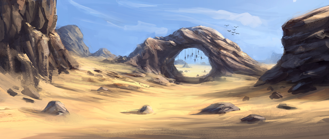 Environment Sketch 003 by AnthonyPismarov
