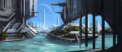 Environment Sketch 005 by AnthonyPismarov
