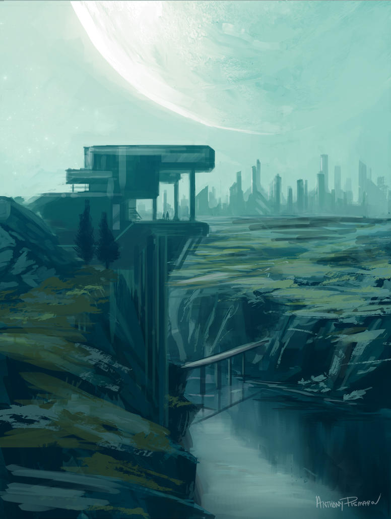 Environment Sketch 006 by AnthonyPismarov
