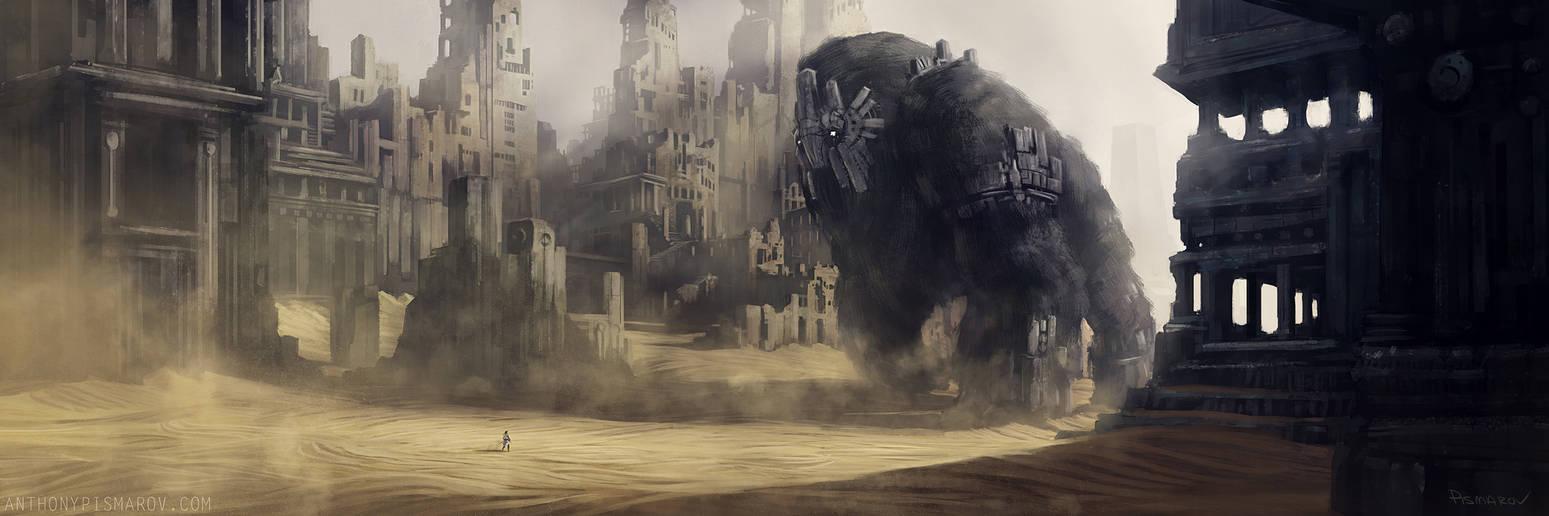 Gate Watcher in Ruin by AnthonyPismarov