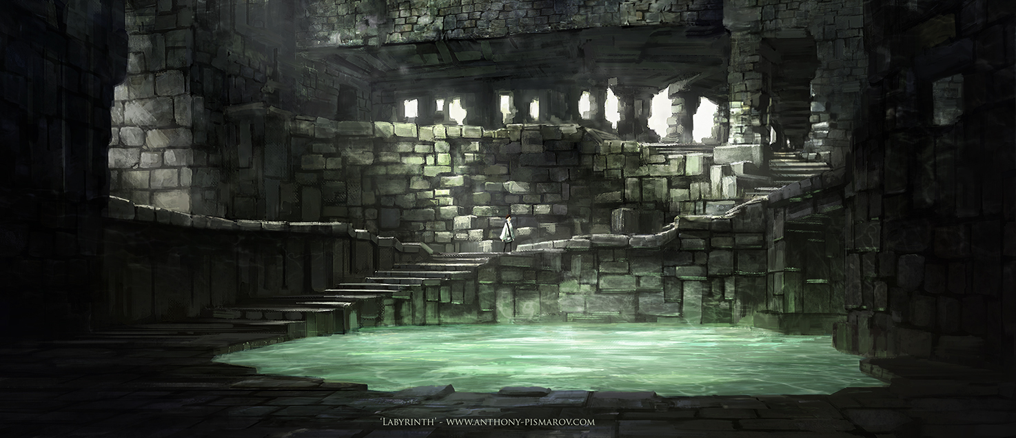 Labyrinth   Interior Environment Concept By AnthonyPismarov Labyrinth   Interior  Environment Concept By AnthonyPismarov
