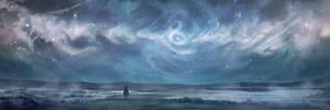 Nebula Over a Marsh by AnthonyPismarov