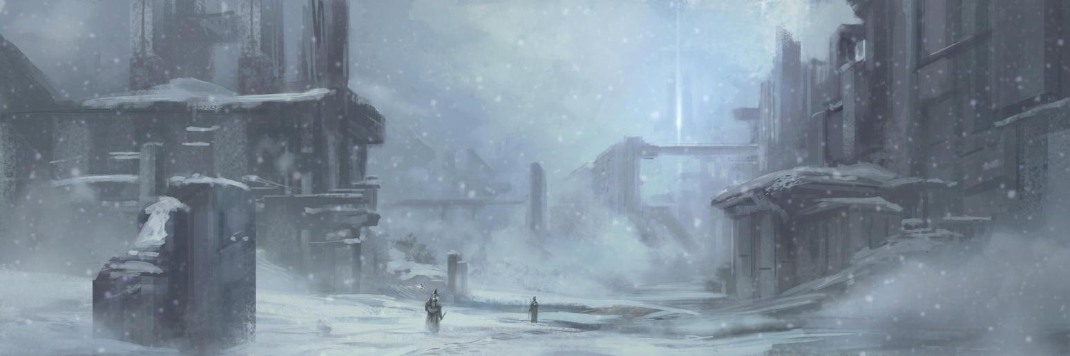 Ruins in Snow by AnthonyPismarov