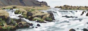 Icelandic landscape study 02 by AnthonyPismarov
