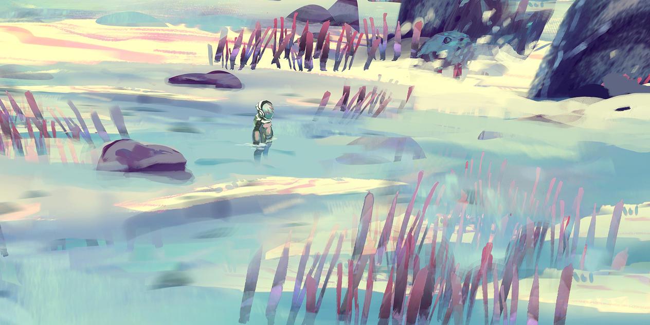 Alien Beach Environment Concept by AnthonyPismarov