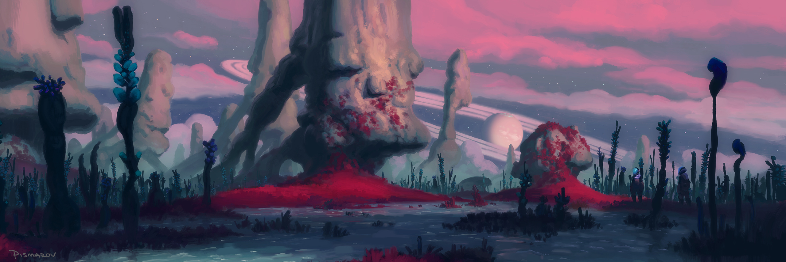 Pillars of the Twilight Bog by AnthonyPismarov