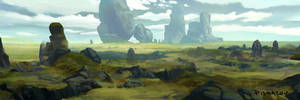 Grassy Plains Environment Color Concept by AnthonyPismarov